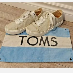 Toms 5.5 Silver Glitter Canvas Sneakers Size 5.5